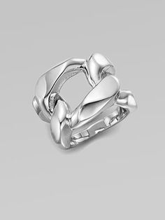 Michael Kors - Structured Chain Link Ring/Silvertone - Saks.com