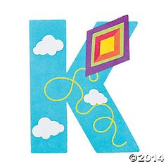 """K is For Kites"" Letter K Craft Kit - Oriental Trading"