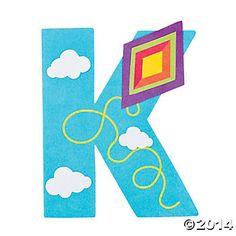 """""""K is For Kites"""" Letter K Craft Kit - Oriental Trading"""