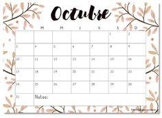 Calendario descargable octubre 2016