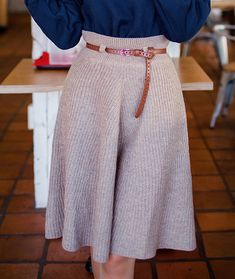 Crochet Skirts, Knit Skirt, Knit Dress, Dress Skirt, Knit Crochet, Vogue Knitting, Loom Knitting, Diy Mode, Knitted Gloves