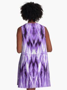 a2064016c Purple Shibori Argyle A-Line Dress Afro Punk, Ultra Violet, Color Of The