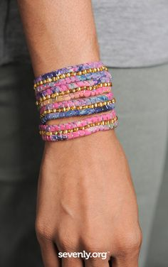 Buy this Beaded Wrap Bracelet at Sevenly; created by Indego Africa Jewelry Accessories, Fashion Accessories, Diy Jewelry, Bangles, Bracelets, Girls Best Friend, Daily Fashion, Jewels, My Style