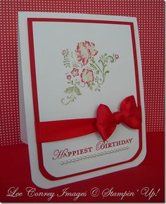 Fresh Vintage Card and large rounded corner Tutorial on my blog at   http://www.stampingleeyours.blogspot.com