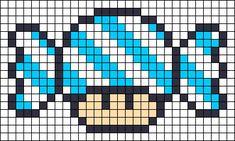 Candy Mushroom perler bead pattern