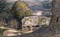 Landscape with Barn, Shoreham by Samuel Palmer