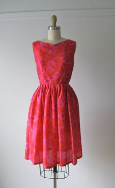vintage early 1960s Betty Barclay silk party dress