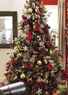 Masculine Christmas Tree 25 christmas tree decorating ideas - christmas decorating