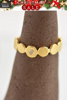 Gold ring free shipping gemstone Gift women ring by AgataLovemade