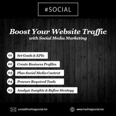 Boost your web site traffic with Social Media Marketing #socialmedia #SocialROI #DigitalMarketing #SEO http://www.hashtagsocial.me/