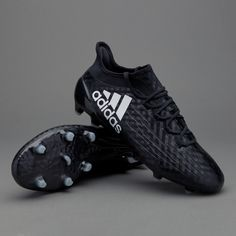 check out 94075 d9905 adidas X 16.1 FG - Core Black White Core Black. prodirectrugby.com. Rugby CleatsStudsCoreBlack WhiteFootball BootsCleats ShoesSpikesBlack ...