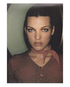 Milla Jovovich for Bluemarine AW 95/96. See the whole series at @juergentellerfashionpage by juergentellerpage