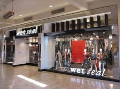 Wet Seal storefront with brake metal cladding