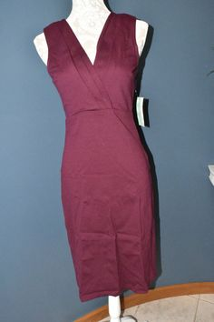 Modcloth Beautiful Lady Love Song Burgundy Pencil Dress by Rock Stead  Sz M NWT #RockSteady #PencilWigglePencil #Anyoccasion