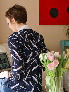 Patron Couture Blouse - Sewing pattern Une blouse chic et casual http://kitbyklo.bigcartel.com