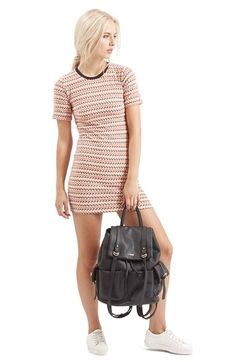 Topshop Zigzag Body-Con Dress available at #Nordstrom