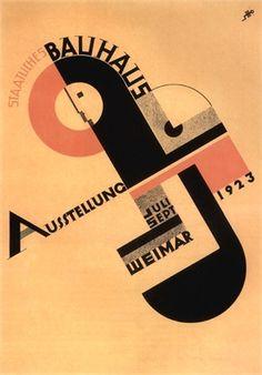 Poster  bauhaus   1923