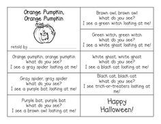 The kids build their own story Orange Pumpkin, Orange Pumpkin and use the pictures that come with it...with printables