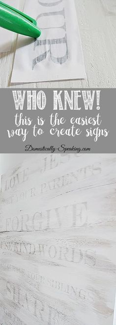 Wood Projects Who-Knew!--This-is-the-EASIEST-way-to-make-signs - Learn how to make a sign the easy way! Who Knew - transfer your words easily onto wood. I made a family rules sign, but the skies the limit with this. Diy Projects To Try, Crafts To Make, Project Ideas, Diy Gifts To Sell, Easy Pallet Projects, Easy Gifts To Make, Wood Projects That Sell, Dyi Crafts, Do It Yourself Projects
