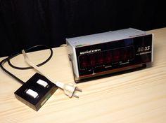 RARE Vtg. PRAGOTRON DS35 Digitron digital lab stop clock seconds count + remote