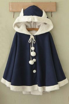 Sweet hoodie cape coat sold by Fashion Kawaii [Japan & Korea]. Shop more products from Fashion Kawaii [Japan & Korea] on Storenvy, the home of independent small businesses all over the world. Kawaii Fashion, Cute Fashion, Lolita Fashion, Girl Fashion, Fashion Design, Cute Coats, Girl Outfits, Fashion Outfits, Kawaii Clothes
