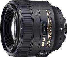 Nikon - AF-S NIKKOR 85mm f/1.8G Medium Telephoto Lens - Black - Angle_Standard
