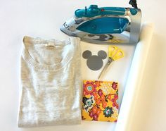Learn how to make your own Mickey Mouse iron-on patch.