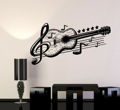 Music Decor For Walls Musical Wall Art Decor Vinyl Wall Decal Guitar Musical Art Music Decor Stickers Mural Home Design Music Notes Decor For Walls Guitar Wall Art, Music Wall Art, Music Decor, Vinyl Music, Music Music, Music Notes, Wall Painting Decor, Art Decor, Decoration