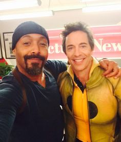 Joe West (Jesse L. Martin) and The Reverse Flash (Tom Cavanagh)