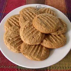 Easy Whole Wheat Peanut Butter Cookies.made these with King Arthur Organic White Whole Wheat and they were absolutely delicious.my go to peanut butter recipe from now on. Peanut Butter Cookies Allrecipes, Healthy Peanut Butter Cookies, Peanut Cookies, Whole Food Recipes, Cookie Recipes, Dessert Recipes, Healthy Recipes, Flour Recipes, Dessert Bars