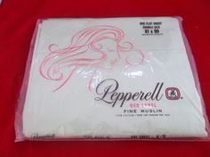 Lady Pepperell Red Label NOS NIP Fine Muslin Green Flat Double Bed Sheet 81 x 99  #LadyPepperell #RedLabel #NOS #NIP #Muslin #Fabric #Green #Bed #Sheet #Double #Bonanza