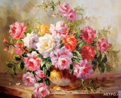 oil painting flower - Buscar con Google