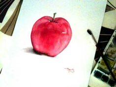 Beautifully simple apple watercolour.