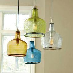 Addie Pendant by Ballard Designs - Mouth-blown glass pendant light inspired by a vintage jar. Glass Pendant Light, Lamp, Vintage Light Bulbs, Light Fixtures, Lights, Vintage Pendant Lighting, Glass, Pendant Lighting, Vintage Lighting