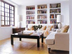 Libreria integrada en el salón