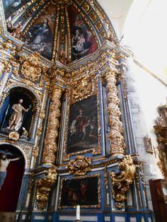 Iglesia de San Juan del Mercado. Pinturas de Alonso del Arco en el retablo mayor.