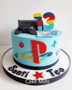 folio 18098 sabado 9 de marzo Video Game Cakes, Video Game Party, Cake Videos, Cupcake Party, Party Cakes, Cupcake Cakes, 13 Birthday Cake, Boy Birthday, Ps4 Cake