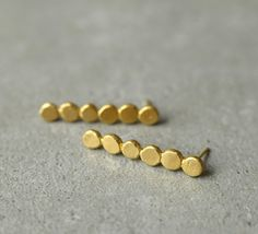 long circle earrings, Christmas gift, stick earrings, gold earrings, bride jewelry, bridesmaid gift, hand made earrings, rustic, long studs