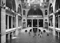 Hotel Ponce de Leon, St Augustine Florida 1890s Bathing pool in the casino