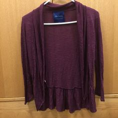 Purple/maroon Cardigan Super cute maroon sweater. Size small! Picture is very accurate to the color. Please feel free to make an offer through the offer button or bundle for a greater discount  Sweaters Cardigans