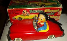 Linemar Vintage Friction Olive Oyl  Sports Roadster J 4050 w/box