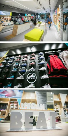 Street Beat urban fashion footwear retail store, designed by Shopworks Moscow team - opened November 2014