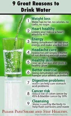 9 reasons to drink water by Selkie~gal