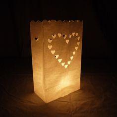 Heart Paper Luminary Bags Path Lighting (10 PACK)