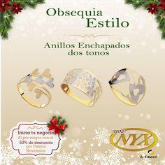 Obsequia estilo en esta Navidad con estos hermosos anillos 😍💍 Anillos enchapados dos tonos 1. codigo: 70034721 2. codigo: 70034749 3. codigo: 70034741  Nuestra tienda:Av. Ejercito 606 Of. 202 Yanahuara.  Consultas y pedidos a: 054 397081 / 968879264  #JoyasNyx #RegalaJoyasNyx #Navidad