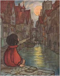 The Man in the Moon - In the Fairy Ring by Florence Harrison. London, 1908