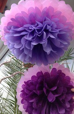 Tissue paper flowers/pom poms- Pops of Wedding Color