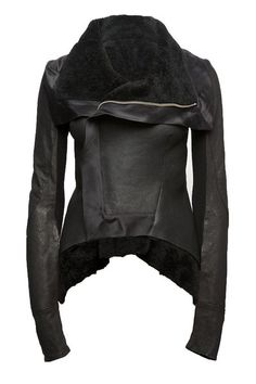 Rick Owens leather jacket - who cares what you wear with this? it's that cool