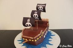 Pirate Ship Cake (With Hershey's Chocolate Cake Recipe)