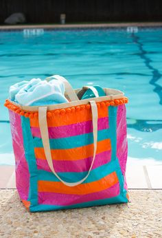 How to make your own pool bag with duct tape!